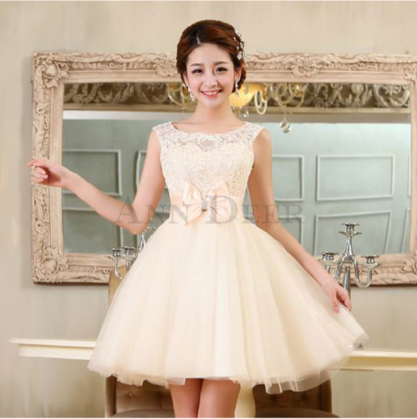 Dress Short Prom Dress Prom Dresses 2016 Champagne Bridesmaid