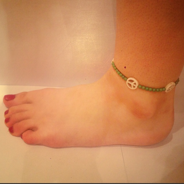Green Peace Anklet