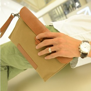 Male canvas bag day clutch small wallet male long design mobile phone bag commercial man Vintage messenger bag free shipping-inMessenger Bags from Luggage & Bags on Aliexpress.com