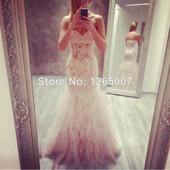 Aliexpress.com : Buy New Arrival Bateau Neck Nice Beaded Diamond Crystal Top A Line Chiffon Slit Prom Dresses pargent Fashion Gowns from Reliable crystal outlet suppliers on SFBridal