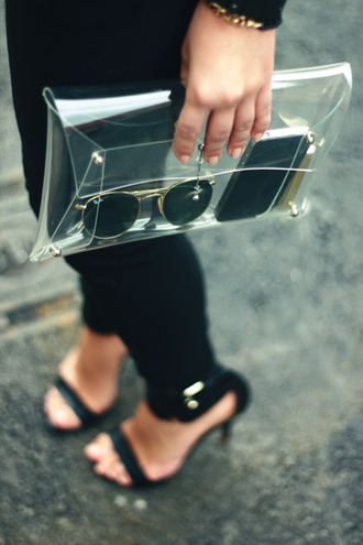 bag transparent  bag love beautiful transparent original plastic clear see through clutch clear clutch sunglasses occhiali borsa