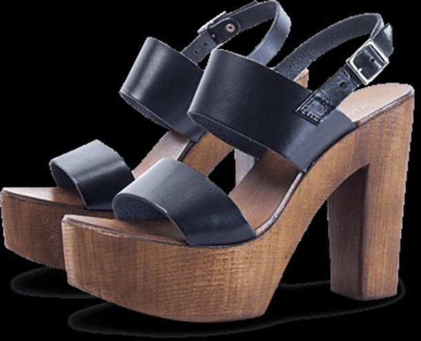 shoes andré black heels bois summer