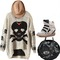 Gothic pirate skull pattern wool blend knit sweater slouchy loose top blouse trr   ebay