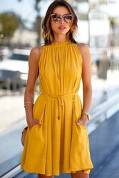 dress,maykool,sleeveless dress,ruffle dress,a line dress