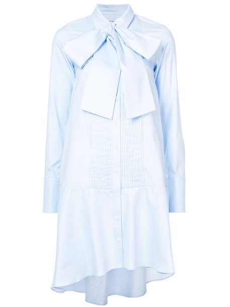 Osman dress shirt dress women cotton blue