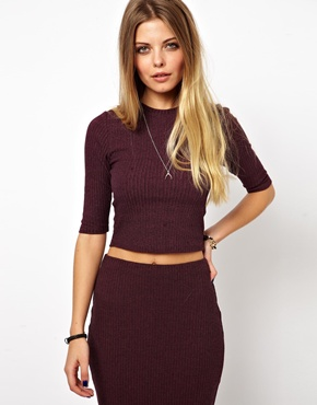 ASOS | ASOS Crop Top in Rib at ASOS