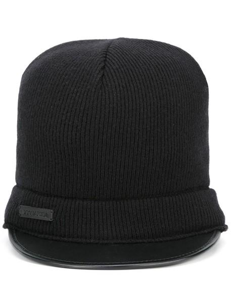 hat black knit