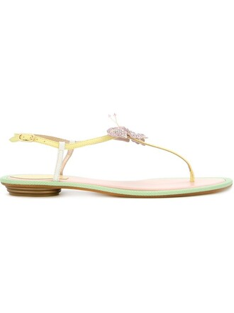 butterfly sandals flat sandals green shoes
