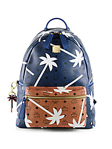 MCM - Bicolor Palmtree-Printed Coated Canvas Backpack - Saks Fifth Avenue Mobile