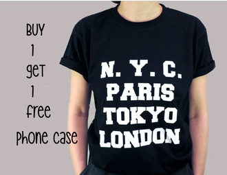 black top quote on it graphic tee black t-shirt