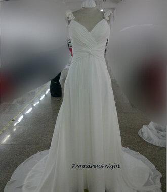 evening dress beach bridal gown beach wedding dress chiffon wedding dresses v neck bridal gown simple wedding dress formal dress chiffon wedding gown