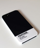 phone cover,pantone,black,white,black and white,b&w,iphone,total eclipse,iphone case,indie iphone case,quote on it phone case