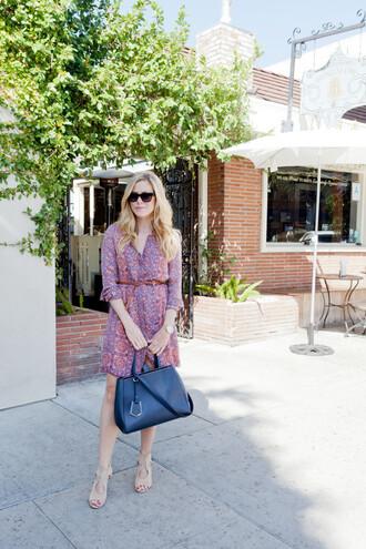 see shop eat do blogger printed dress