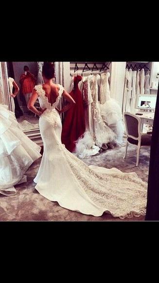 wedding dress white dress wedding clothes lace dress