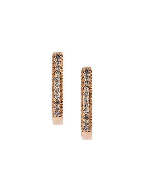 Wouters & Hendrix Gold rose gold rose women earrings hoop earrings gold grey champagne metallic jewels