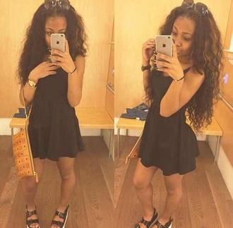 dress flare black dress skater dress