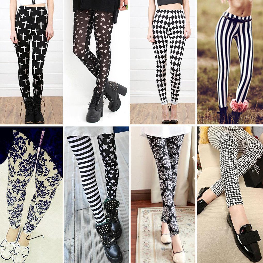 05c7d01251af8 New Fashion Womens Punk Funky Leggings Stretchy Tights Pencil Skinny Sexy  Pants | eBay
