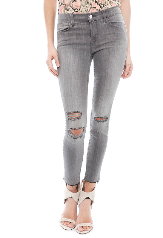 J Brand Mercy Cropped Mid Rise Skinny Jean | SINGER22.com