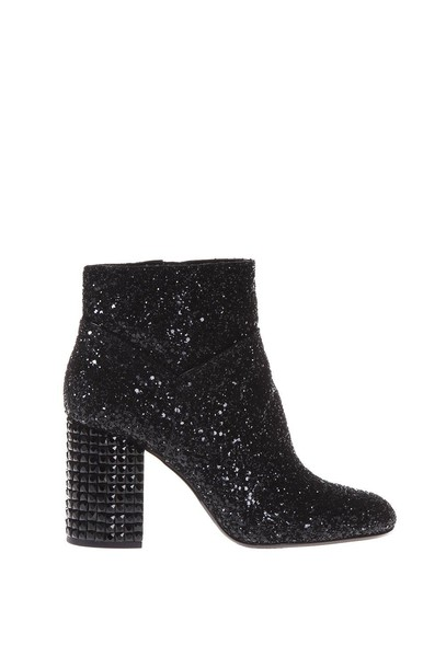 MICHAEL Michael Kors leather ankle boots embellished ankle boots leather black shoes