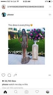 dress,geometric,long dress,long,neutral,metallic,sparkle,sequense,lace,gown