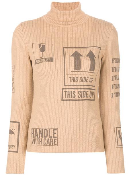 Moschino sweater women nude wool