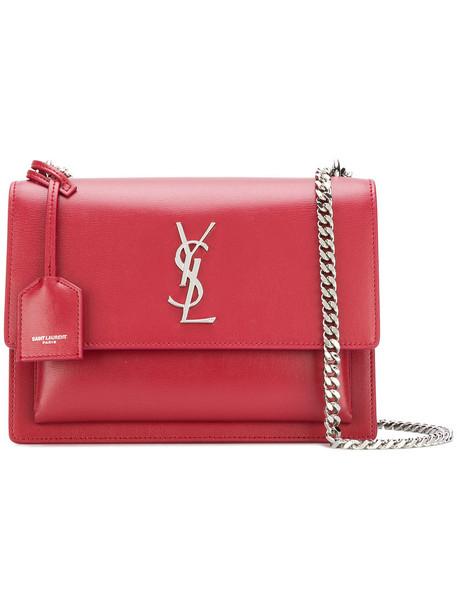 Saint Laurent women bag shoulder bag leather red