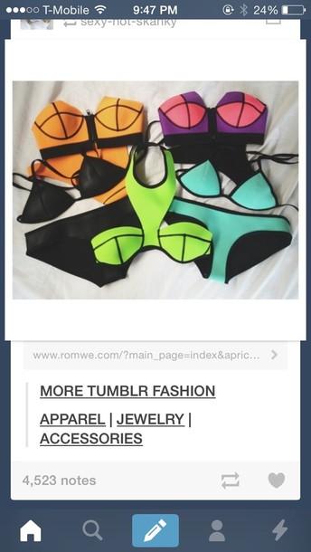 shirt neon crop tops bandeau bikini bandeau
