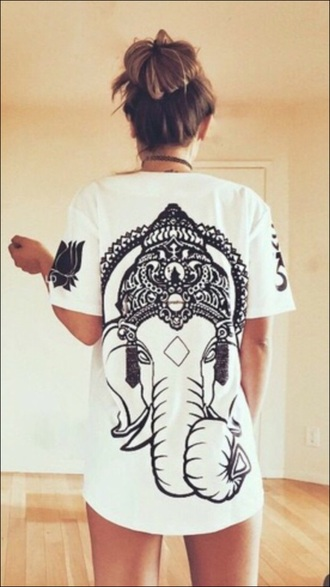 t-shirt ganesh hindu indian white t-shirt