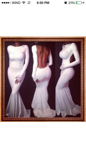 long sleeve dress white dress