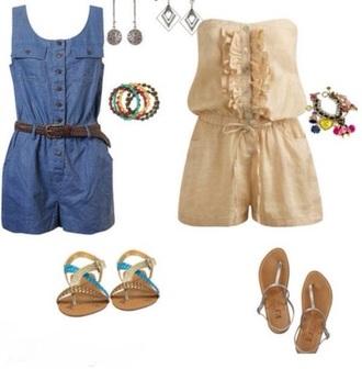 jumpsuit denim blue short dungarees summer dungarees denim overalls