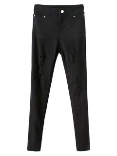 Black skinny cut out pants
