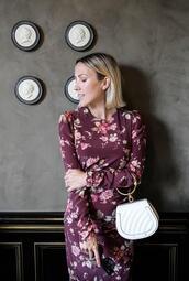 damsel in dior,blogger,dress,tank top,jewels,bag,purple dress