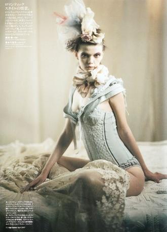 underwear pastel lingerie corset onepiece rococo lolita cute vintage old fashion victorian editorial