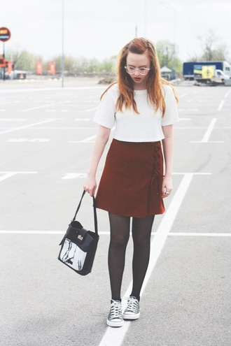 kristina magdalina blogger top skirt bag