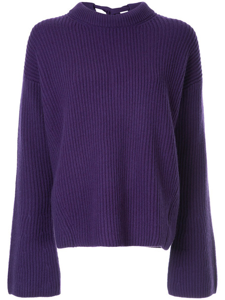 Le Ciel Bleu jumper bow back women wool purple pink sweater