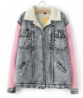 jacket denim it girl shop cute wool warm winter outfits kawaii