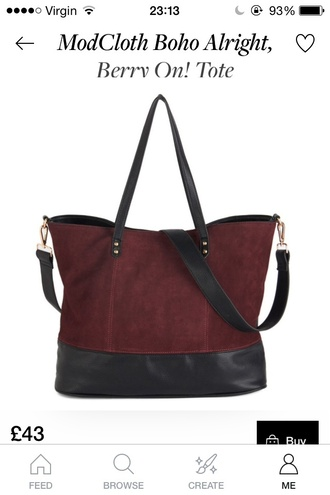 bag tote bag tote maroon burgandy black bag faux leather fashion beautiful bags long strap bag big bag