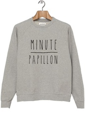 sweater,hipster,grey,winter outfits,winter sweater,quote on it,french,cool,girly,shaman