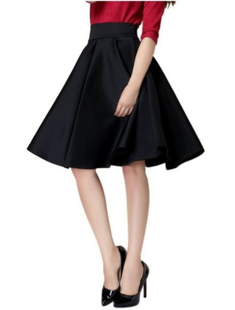 A Line Skirt Knee Length - Dress Ala