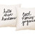 His and Hers Pillow Covers 18 x 18 inch - Hello There Handsome, Good Morning Gorgeous