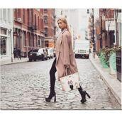 bag,hailey baldwin,coat,instagram