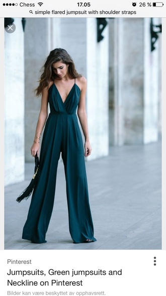jumpsuit straps green