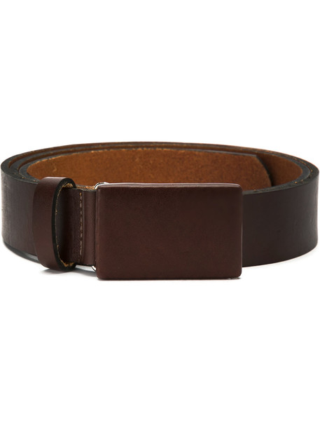 belt leather brown