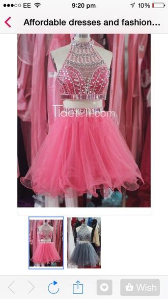 dress pink jewel super cute