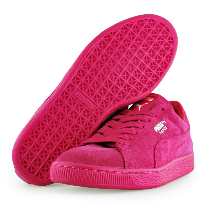 all pink pumas suede