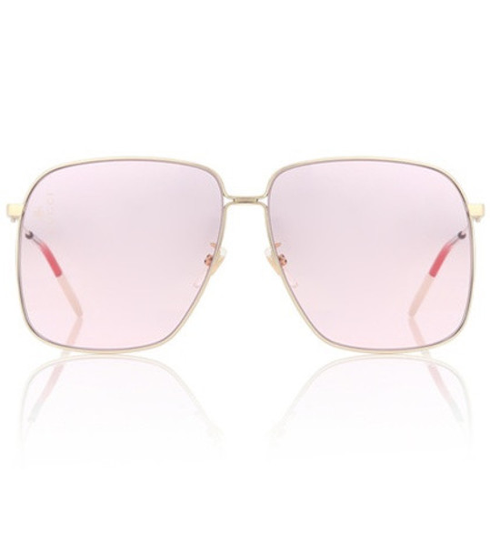 Gucci Rectangular sunglasses in pink