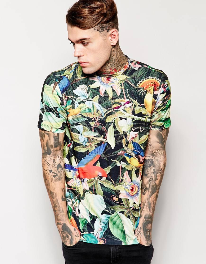 Shirt in tropical print at asos.com
