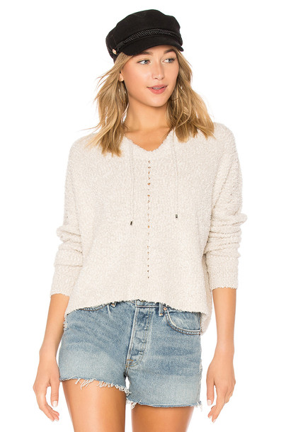 hoodie tan sweater