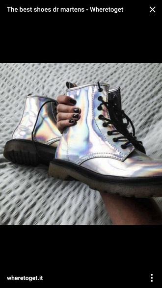 shoes metallic drmartens metallic shoes