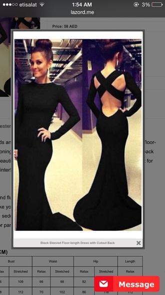 dress black dress open back